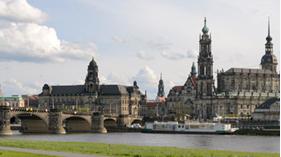 Panoramaaufnahme der Dresdener Altstadt